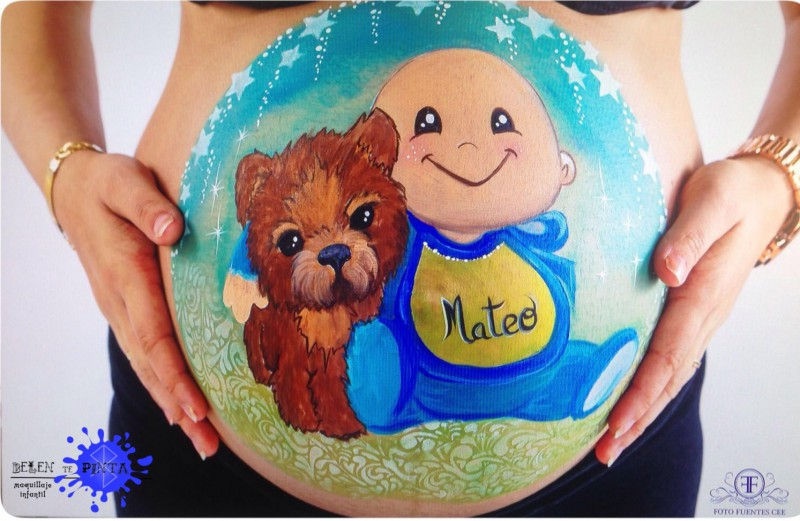 Belly painting bebé con mascota