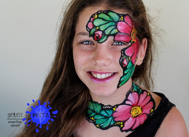 Face painting flores