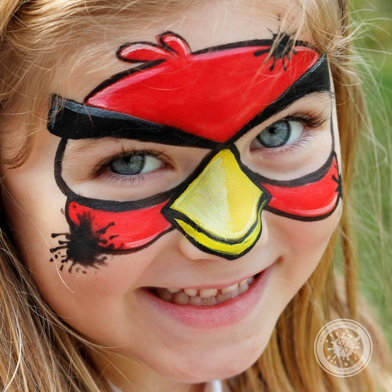maquillaje angry birds
