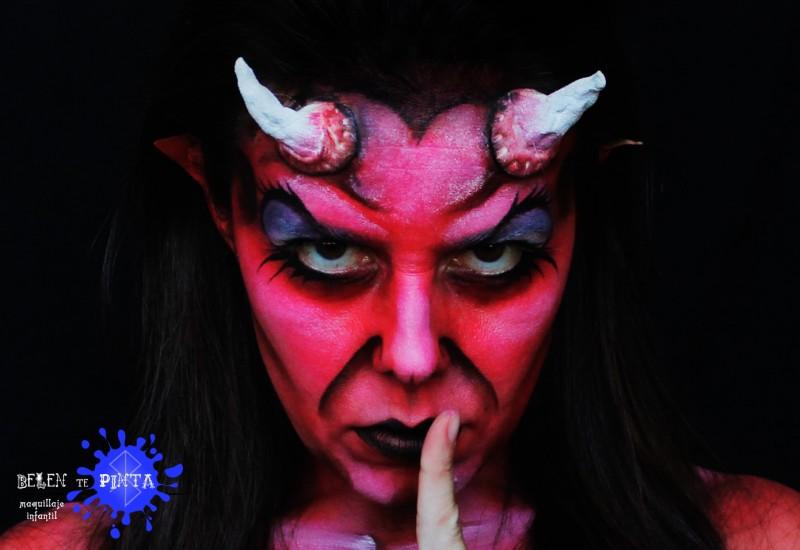 face painting diablesa - Maquillaje Diablesa