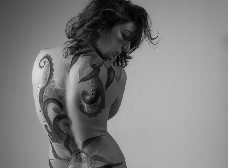 Body paint flor de loto