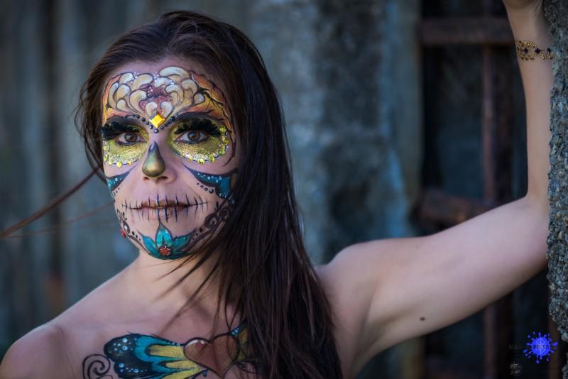 Face painting sugar skull