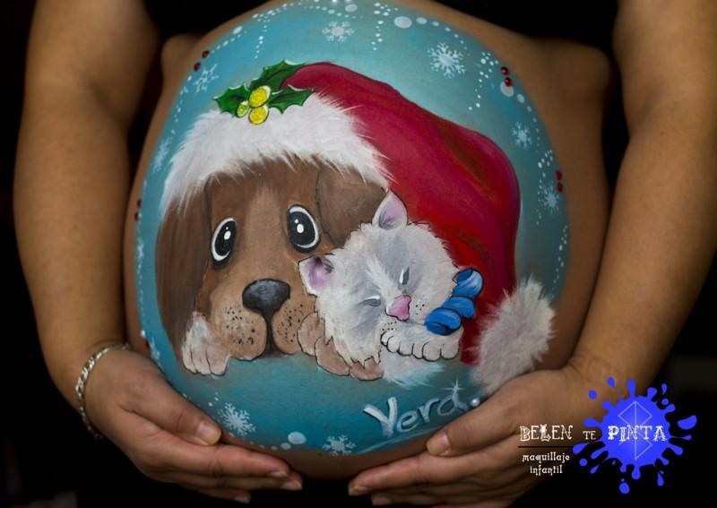 Arte prenatal navideño