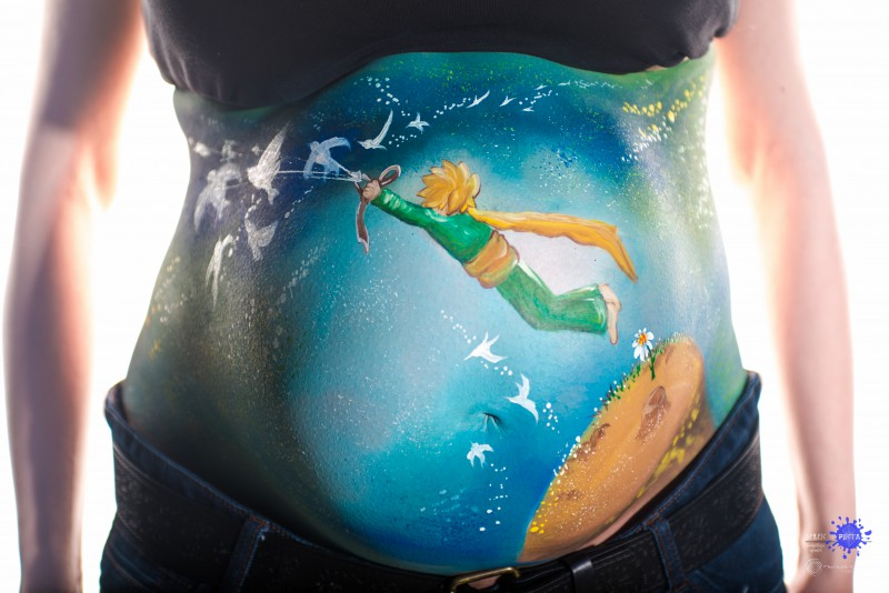 Belly painting - El Principito