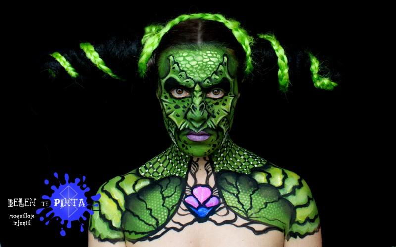 Body paint dragón
