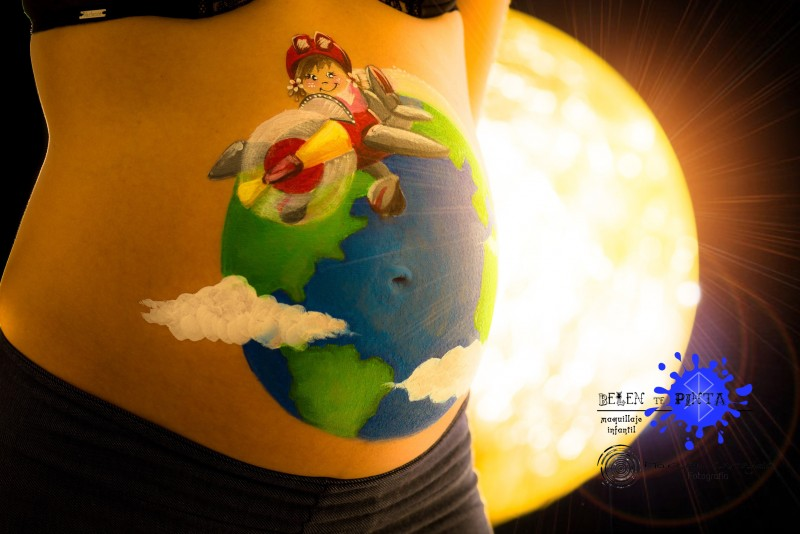 Belly painting - Viajeros
