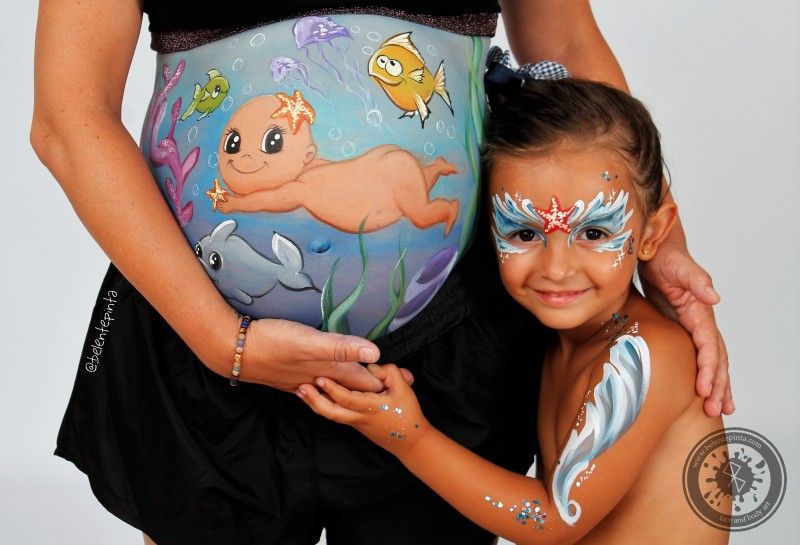 BELLY PAINTING BAJO EL MAR
