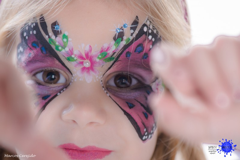 Face painting mariposa