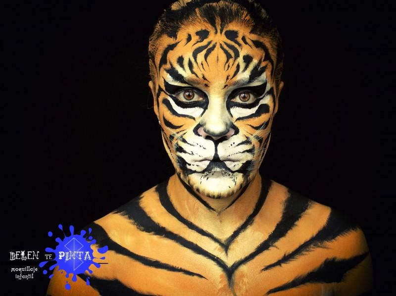 Maquillaje tigre