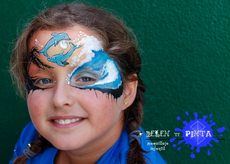 face painting delfines