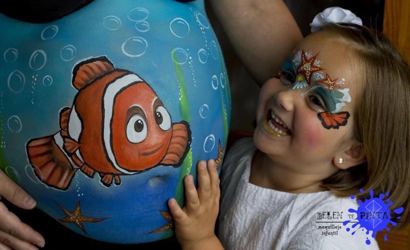 Barriguita pintada con un Nemo