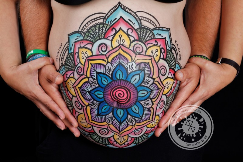 belly painting mandala