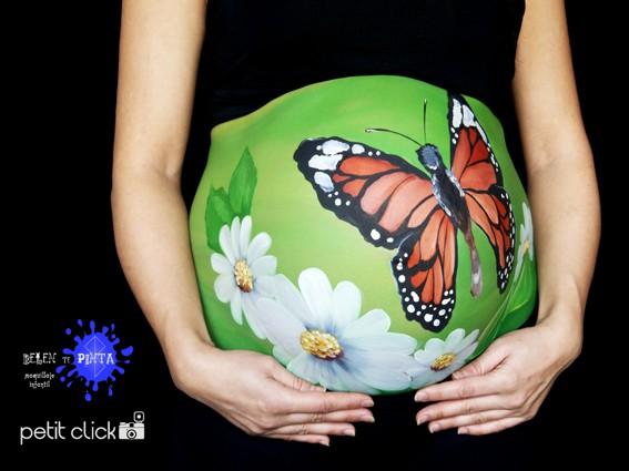 """Belly painting publicado en el num. 2 de la revista """"Ser mami"""""""
